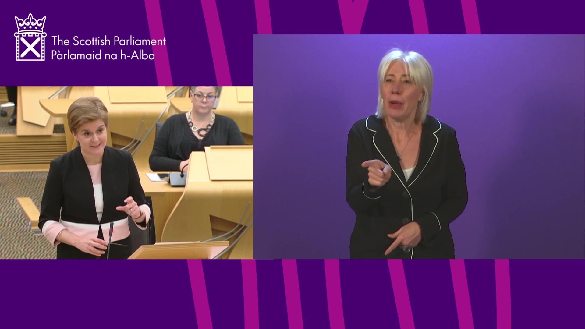First Minister's Statement: COVID-19 Update (BSL)