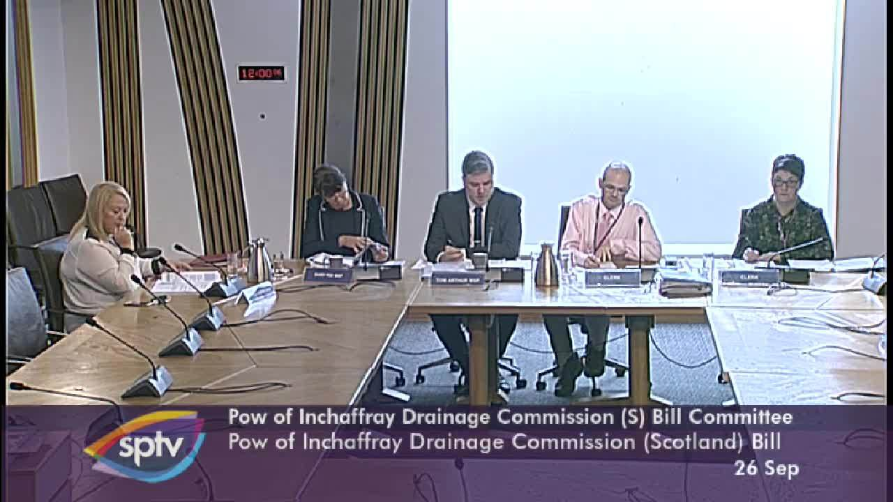 Pow of Inchaffray Drainage Commission (Scotland) Bill Committee
